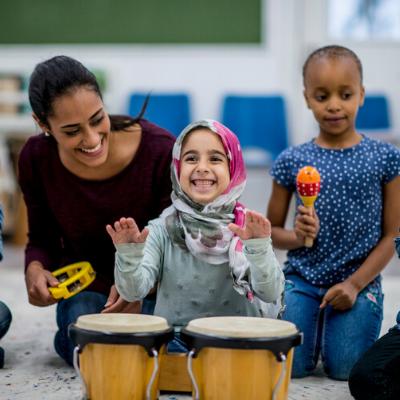 Children and educator